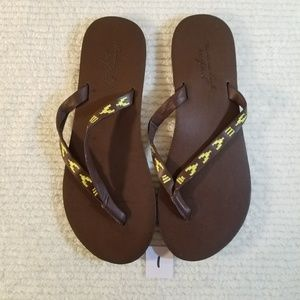 AE leather flip flops